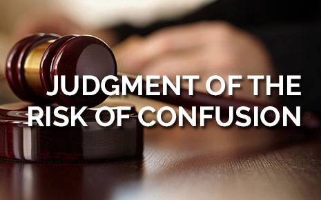 Judgment of the risk of confusion